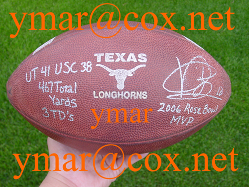 2006 Rose Bowl Game Used Football Autographed by Vince Young!!!